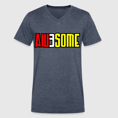aw3some - Men's V-Neck T-Shirt by Canvas