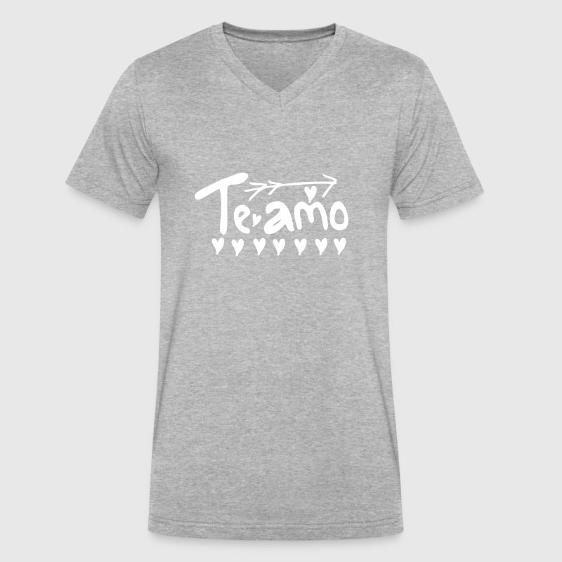 te amo - Men's V-Neck T-Shirt by Canvas