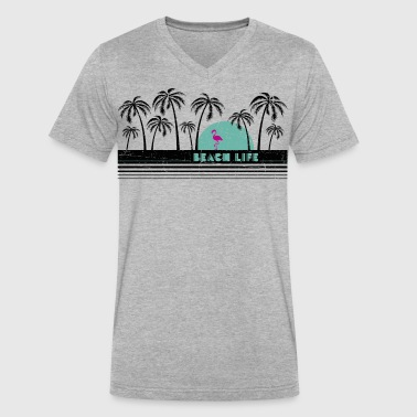 Beach Life 80 - Men's V-Neck T-Shirt by Canvas
