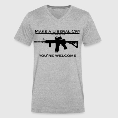 Libtard Make a Libral Cry - Black - Men's V-Neck T-Shirt by Canvas