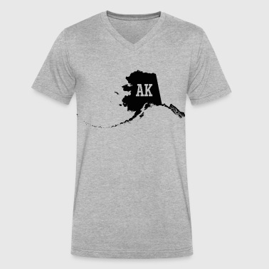 Alaska State Map AK - Men's V-Neck T-Shirt by Canvas