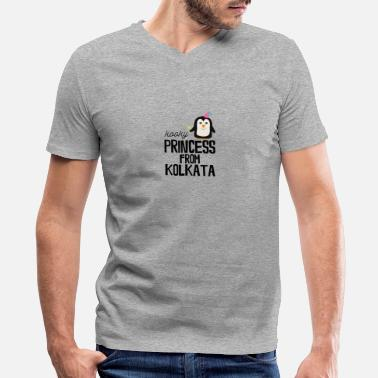 Kolkata kooky Princess from Kolkata - Men's V-Neck T-Shirt by Canvas