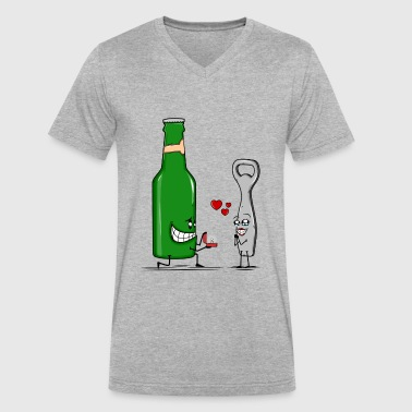 Beer Love - Men's V-Neck T-Shirt by Canvas