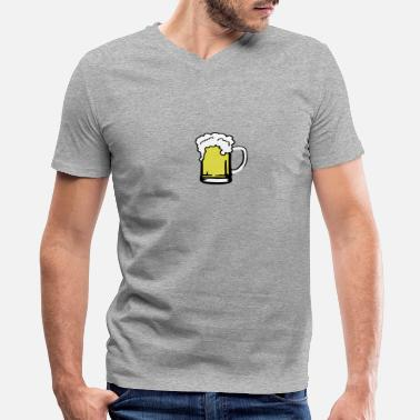 I Love Tirol Beer - Men's V-Neck T-Shirt by Canvas