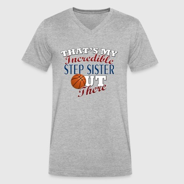 Basketball Step Sister & Brother Gift - Men's V-Neck T-Shirt by Canvas