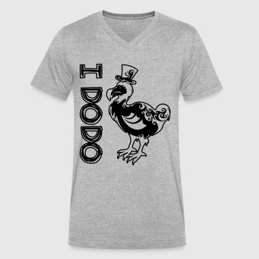 Dodo I Love Dodo Bird Shirt - Men's V-Neck T-Shirt by Canvas
