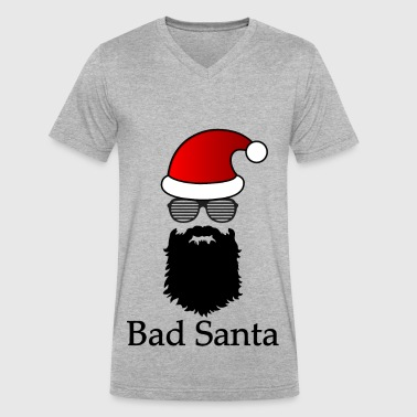 Bad Santa - Men's V-Neck T-Shirt by Canvas