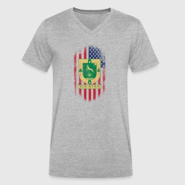 Yucatan Yucatan American Flag - Men's V-Neck T-Shirt by Canvas