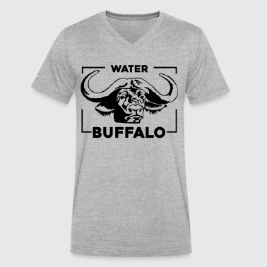 Water Buffalo Lover Shirt - Men's V-Neck T-Shirt by Canvas