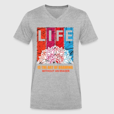 Rap Draw Life is the art of drawing without an eraser - Men's V-Neck T-Shirt by Canvas