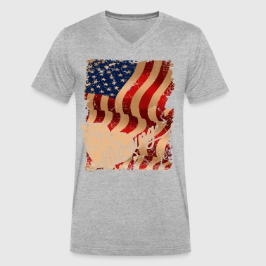 Nursing Flag Shirt - Men's V-Neck T-Shirt by Canvas