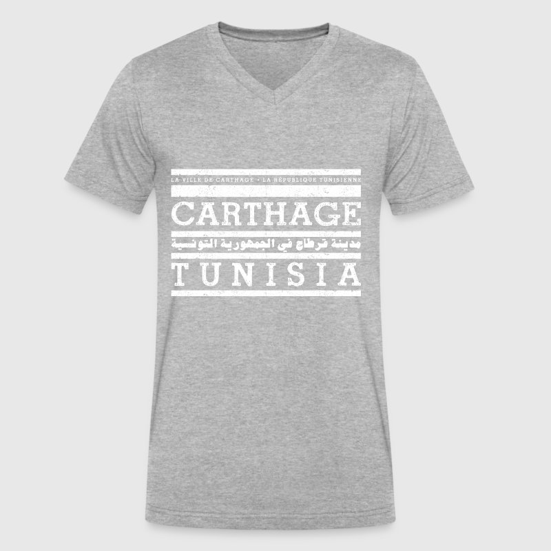 Carthage - Men's V-Neck T-Shirt by Canvas