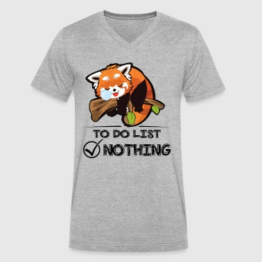 Red Panda Nothing To Do List Shirt - Men's V-Neck T-Shirt by Canvas