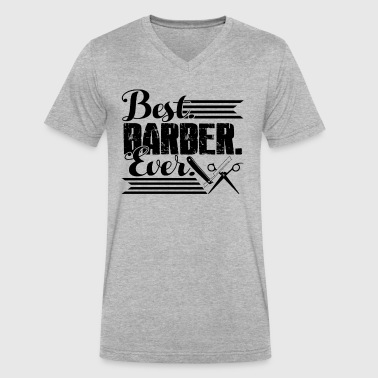 Best Barber Best Barber Ever Shirt - Men's V-Neck T-Shirt by Canvas