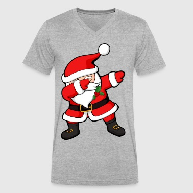 Dabbing Santa - Men's V-Neck T-Shirt by Canvas