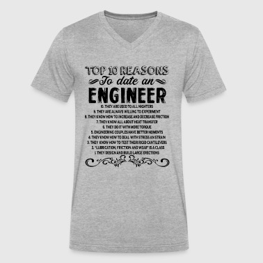 To Date An Engineer Reasons To Date Engineer Shirt - Men's V-Neck T-Shirt by Canvas