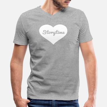 Storytime Storytime - Men's V-Neck T-Shirt by Canvas