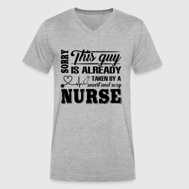 Taken By Sexy Nurse Shirt - Men's V-Neck T-Shirt by Canvas