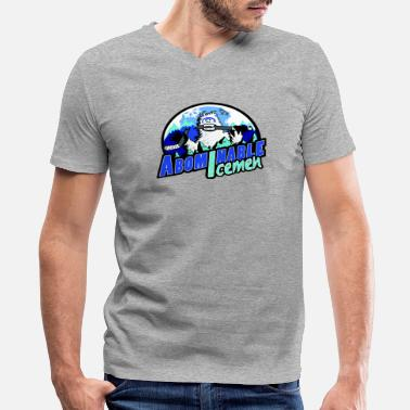 Snowman Abominable Icemen - Men's V-Neck T-Shirt by Canvas