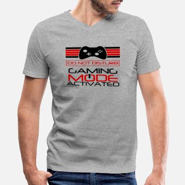 Gaming Mode Activated Gaming Mode Activated - Men's V-Neck T-Shirt by Canvas
