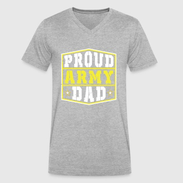Proud Us Army Dad Proud Army Dad - Men's V-Neck T-Shirt by Canvas