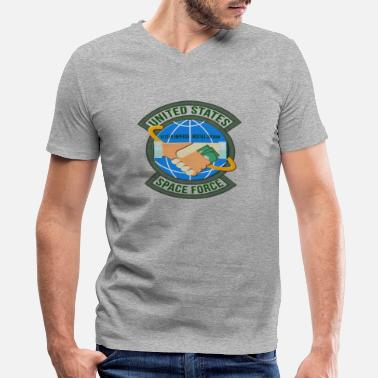 America Sucks US Space Force insignia - Men's V-Neck T-Shirt by Canvas