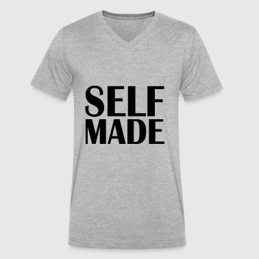 Self-made self made - Men's V-Neck T-Shirt by Canvas