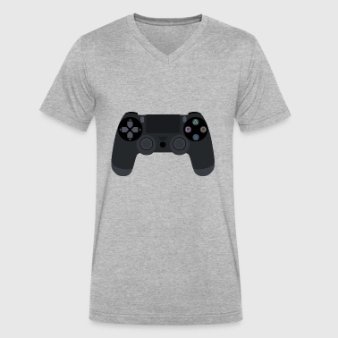 Playstation Controller Playstation 4 Controller - Men's V-Neck T-Shirt by Canvas