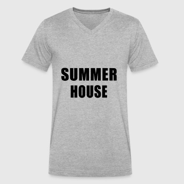 Summer House Summer House - Men's V-Neck T-Shirt by Canvas