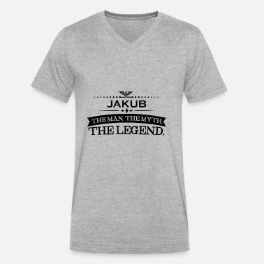 Jakub Mann mythos legende geschenk Jakub - Men's V-Neck T-Shirt by Canvas