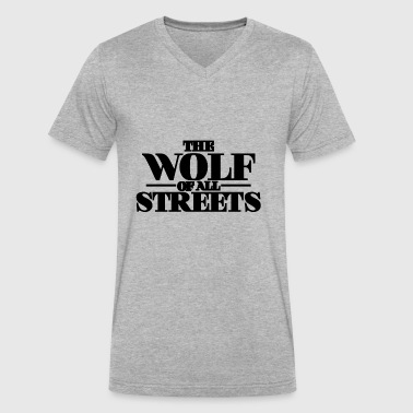Wolf Of All Streets The Wolf Of All Streets - Men's V-Neck T-Shirt by Canvas