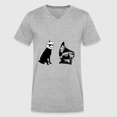 Rca Pup Play Music Puppy Play - Men's V-Neck T-Shirt by Canvas
