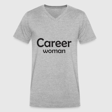 Career Career Woman - Men's V-Neck T-Shirt by Canvas