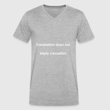 Correlate Correlation does not imply causation - Men's V-Neck T-Shirt by Canvas