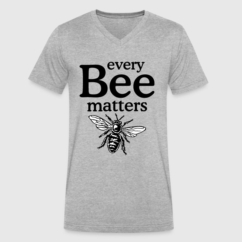 Every Bee Matters Beekeeper Design - Men's V-Neck T-Shirt by Canvas