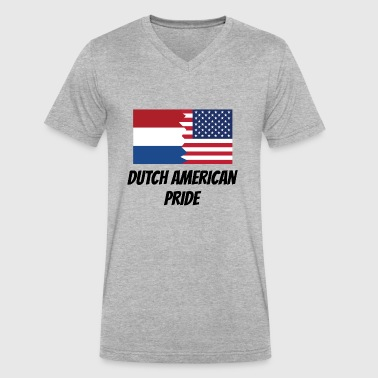 Dutch American Pride - Men's V-Neck T-Shirt by Canvas