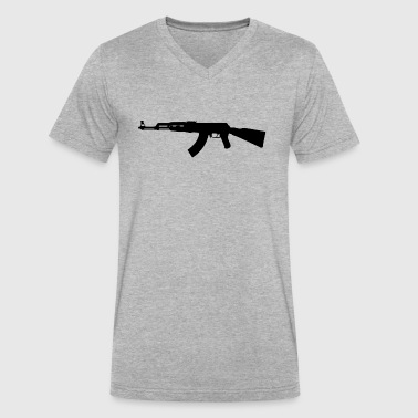 Russian Ak 47 Kalashnikov AK-47 - Men's V-Neck T-Shirt by Canvas