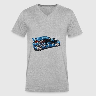 Turbo Rally ford rally - Men's V-Neck T-Shirt by Canvas