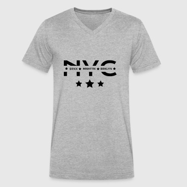 NYC Boroughs - Men's V-Neck T-Shirt by Canvas