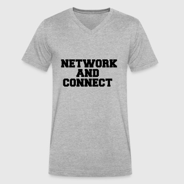Best Connection NETWORK AND CONNECT - Men's V-Neck T-Shirt by Canvas