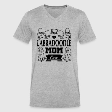 Best Labradoodle Mom Shirt - Men's V-Neck T-Shirt by Canvas
