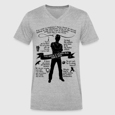 Damon Salvatore Quote Tee - Men's V-Neck T-Shirt by Canvas