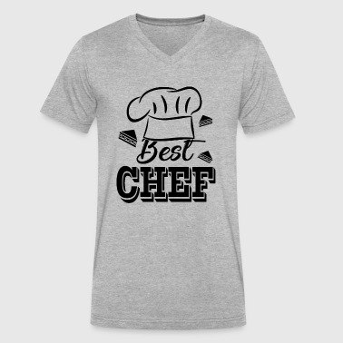 Best Chef Shirt - Men's V-Neck T-Shirt by Canvas