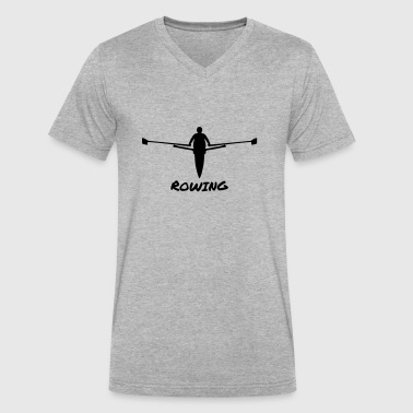 Rowing, Rower - Men's V-Neck T-Shirt by Canvas