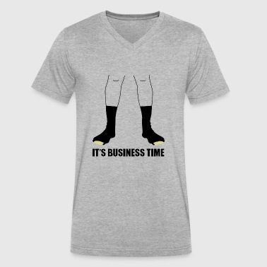 Flight Conchords Business - Men's V-Neck T-Shirt by Canvas
