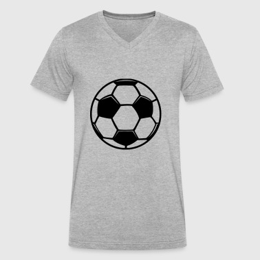 soccer zai - Men's V-Neck T-Shirt by Canvas