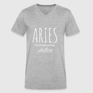 Aries - Men's V-Neck T-Shirt by Canvas