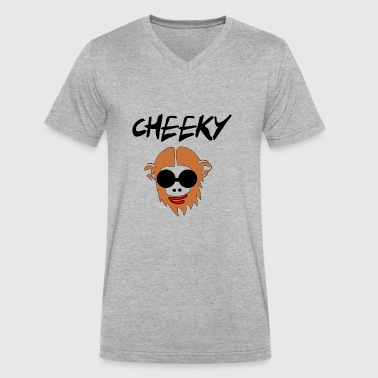 Cheeky Rascal cheeky monkay - Men's V-Neck T-Shirt by Canvas