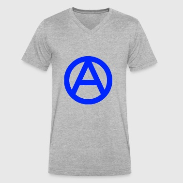 1200px Anarchy symbol svg - Men's V-Neck T-Shirt by Canvas