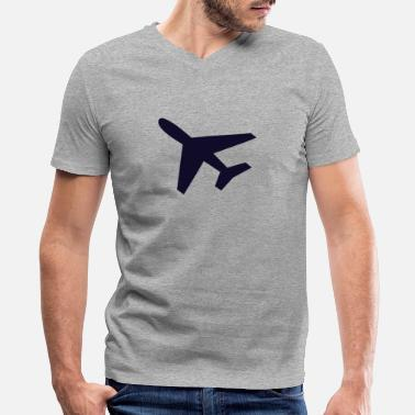 Airport Airport - Men's V-Neck T-Shirt by Canvas
